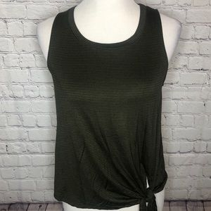 Olive Green Tie Front Tank. NWT